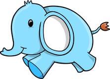 De blauwe vector van de Olifant Royalty-vrije Stock Afbeeldingen