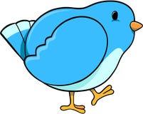 De blauwe Vector van de Vogel Stock Afbeeldingen