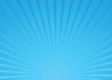 De blauwe vector van de zonnestraal stock foto's