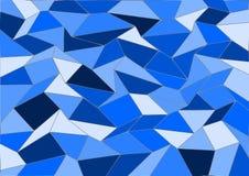 De blauwe Vectorachtergrond van het Tegelmozaïek Royalty-vrije Stock Afbeeldingen