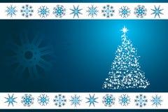 De blauwe vectorachtergrond van Kerstmis Stock Afbeeldingen