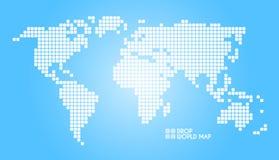 De blauwe vectorkaart van de puntenwereld Stock Fotografie