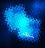 De blauwe vectorkaders van Grunge Kan als prentbriefkaar worden gebruikt De elementen van het ontwerp De achtergrond van de textu Stock Afbeeldingen