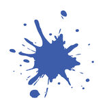 De blauwe Verf ploetert royalty-vrije stock afbeeldingen