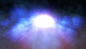 De blauwe Verlichting van Stadiumlichten, de Lijn van het Rookoverleg stock video