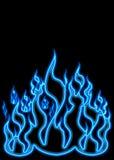 De blauwe Vlammen van het Gas Stock Foto's