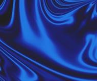 De blauwe Vlotte Achtergrond van het Satijn Stock Afbeelding
