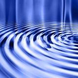 De blauwe Vlotte Rimpelingen van het Water stock illustratie