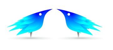 De blauwe vogel van Indifo Stock Foto's
