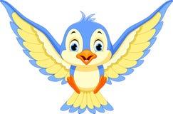 De blauwe vogel zal landen vector illustratie