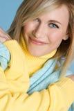 De blauwe Vrouw van Ogen Royalty-vrije Stock Foto
