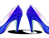 De blauwe Werveling van de Pomp Stock Foto