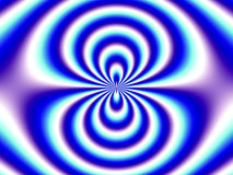 De Blauwe Witte Dubbele Trechter van de optische illusie Stock Afbeeldingen