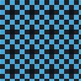 De blauwe witte zwarte achtergrond van het plaid geruite patroon Royalty-vrije Stock Foto