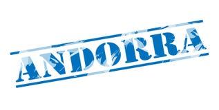 De blauwe zegel van Andorra royalty-vrije illustratie