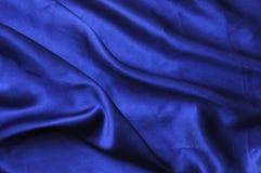 De blauwe zijde drapeert Stock Afbeeldingen