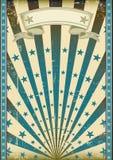 De blauwe zonnestralen van de Grungevlag Royalty-vrije Stock Afbeelding