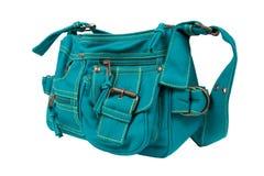 De blauwgroene zak van stoffenvrouwen Royalty-vrije Stock Afbeeldingen
