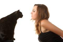 De blik van de kat royalty-vrije stock afbeelding