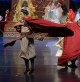 De blik van de samoerai-tweede handeling: een feest in de van het paleis-heldendicht de Zijdeprinses ` dansdrama ` royalty-vrije stock foto's