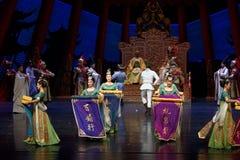 De blik van de samoerai-tweede handeling: een feest in de van het paleis-heldendicht de Zijdeprinses ` dansdrama ` royalty-vrije stock afbeeldingen