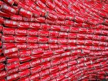 De Blikken van de coca-cola royalty-vrije stock foto