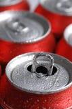 De blikken van Frisdrank Bier Stock Afbeelding