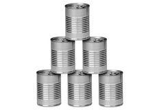De blikken van het aluminium Royalty-vrije Stock Afbeeldingen