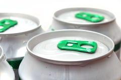 De blikken van het bier Stock Foto