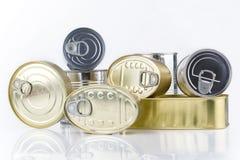 De blikken van het tin Royalty-vrije Stock Afbeelding