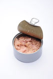 De Blikken van het Voedsel van de tonijn Stock Foto