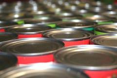 De blikken van het voedsel voor liefdadigheid royalty-vrije stock foto's