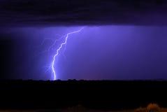 De Bliksem van de moesson Stock Foto