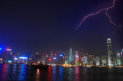 De Bliksem van Hongkong Stock Foto's