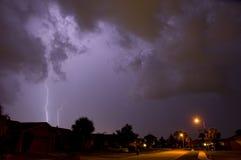 De bliksemstaking van de buurt Stock Foto's