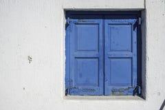 De blinden van het Mykonosvenster Royalty-vrije Stock Afbeeldingen