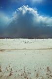 De blizzard van de sneeuw Stock Afbeeldingen