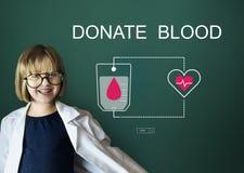De bloeddonatie geeft het Levenstransfusie Delend Concept Royalty-vrije Stock Foto