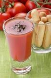 De bloedige cocktail van Mary in een geschoten glas Stock Afbeeldingen