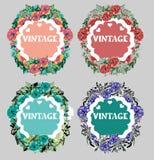 De bloeiende cirkel etiketteert stickers Royalty-vrije Stock Fotografie