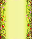 De bloeiende grens van de zomer vector illustratie