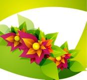 De bloem abstracte achtergrond van de lente vector illustratie