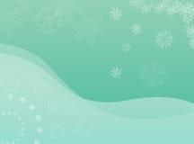 De bloem en de sneeuwvlokken van de winter vector illustratie