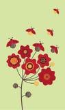 De bloem en het onzelieveheersbeestje van de zomer Royalty-vrije Stock Fotografie
