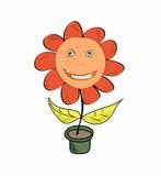 De bloem gelijkend op persoon, in een pot vector illustratie