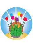 De bloem is groep Stock Afbeelding