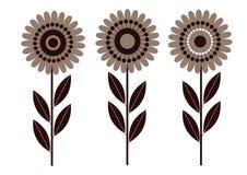 De bloem isoleerde retro vector illustratie