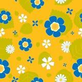 De bloem naadloos patroon van de zomer. Royalty-vrije Stock Afbeelding