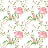 De bloem naadloos patroon van Provance backgorund vector illustratie