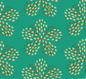 De bloem naadloos patroon van de wintertalings geel zomer royalty-vrije illustratie